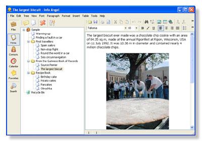 Info Angel - популярный органайзер, включающий в себя Блокнот, Книгу контак
